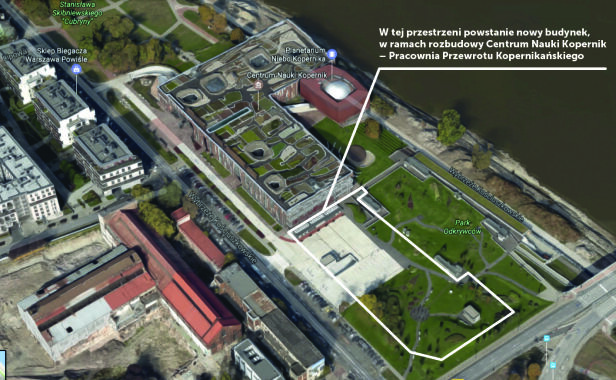 Pracownia powstanie na terenie CNK Centrum Nauki Kopernik