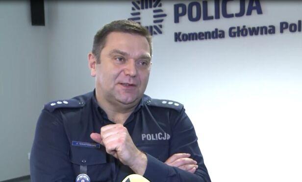 Jarosław Gnatowski, Komenda Główna Policji Artur Węgrzynowicz / tvnwarszawa.pl