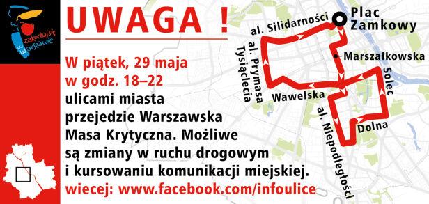 Możliwe utrudnienia w ruchu drogowym infoulice.um.warszawa.pl