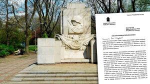 Apel radnego: odnowić park, przenieść pomnik żołnierzy radzieckich