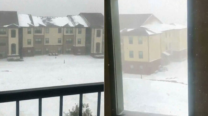 Śnieg spadł tam, gdzie nikt się go nie spodziewał