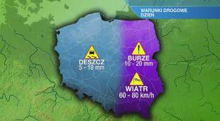 Warunki drogowe w niedzielę 24.05
