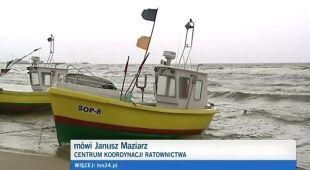 Poszukiwania surfera w Zatoce Puckiej, TVN 24