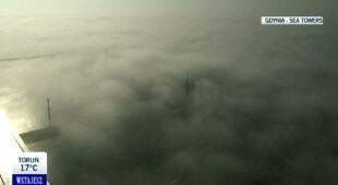 Mgły nad Trójmiastem/ TVN24